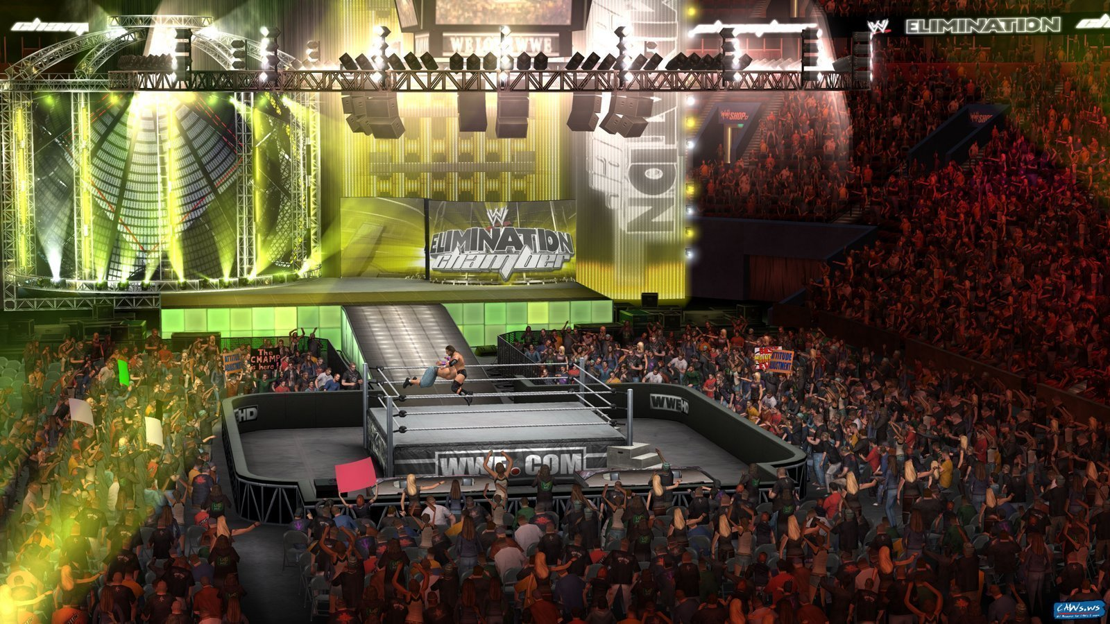 wwesvr2011_eliminationchamber_arena