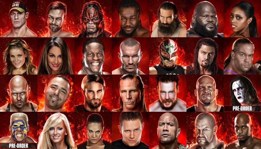 WWE 2K15 Roster Reveal