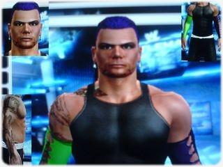 Jeff Hardy Purple Hair W Greenpurple Armbands Caws