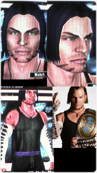 CAWs.ws Jeff Hardy CAW for SD! vs RAW 2008Jeff Hardy Wrestlemania 25 Face Paint
