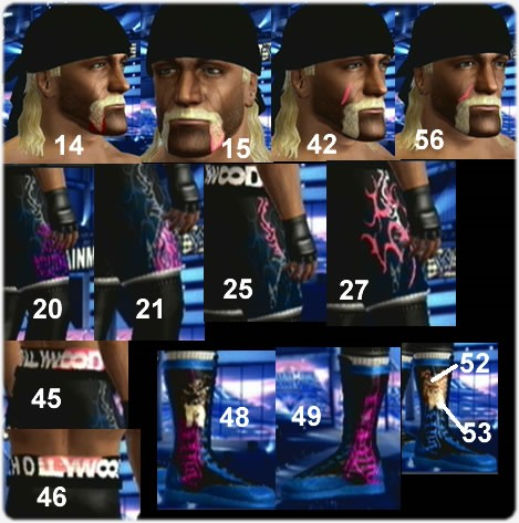 CAWs :: Hulk Hogan CAW for WWE SmackDown vs RAW 2009