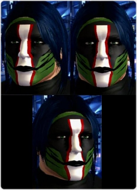 jeff hardy red face paintJeff Hardy Face Paint Red