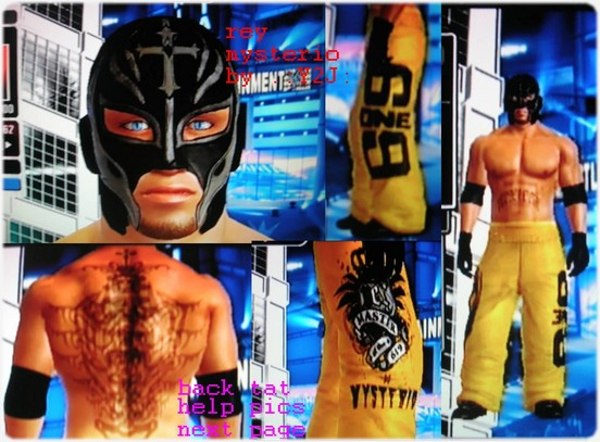 rey mysterio back tattoo pictures to pin on pinterest. Black Bedroom Furniture Sets. Home Design Ideas