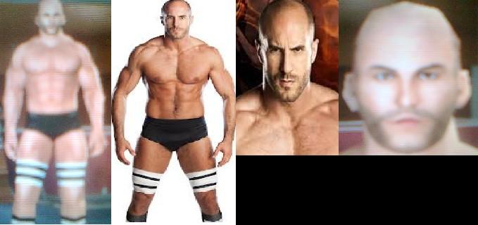 CAWs ws Antonio Cesaro CAW for SD! vs RAW 2011