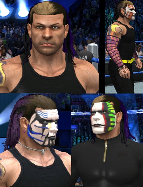 CAWs.ws Jeff Hardy CAW for SD! vs RAW 2011Jeff Hardy Wrestlemania 25 Face Paint